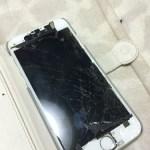 iPhone6の画面修理! 液晶が一部むき出しになっていました