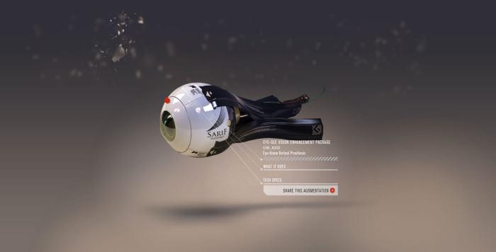 transhumanisme sarif-industries-eyeball h+ oeil bionic