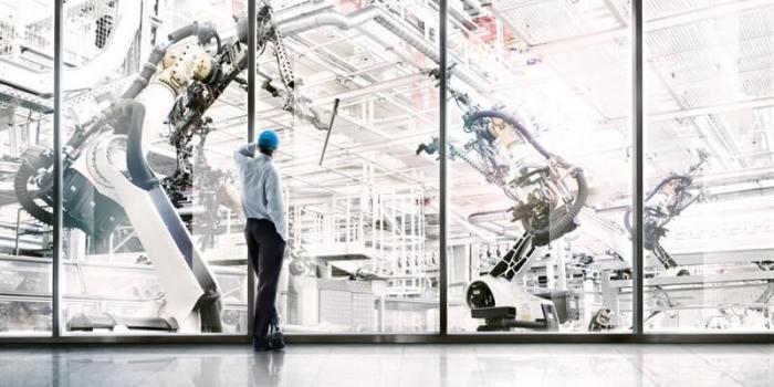Usine du futur robot travail