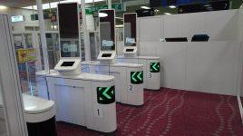 Porte de reconnaissance faciale de Panasonic, système de reconnaissance, immigration, voyageurs japonais, aéroport international de Tokyo