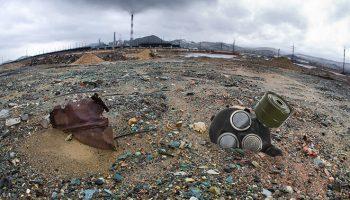 terres rares Paysage dévasté par l'exploitation des terres rares en chine