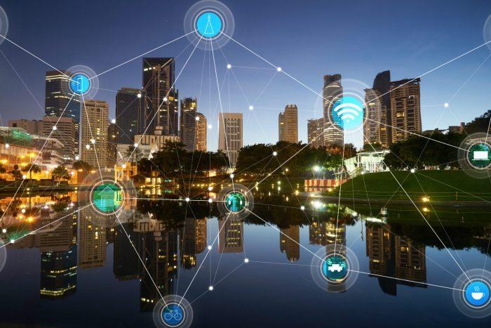 ville intelligente et réseau de communication sans fil iot
