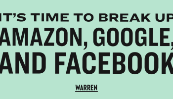 démantèlement d'Amazon, de Facebook et de Google