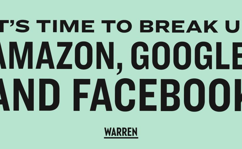 Elizabeth Warren partage son projet pour briser Facebook, Google et Amazon