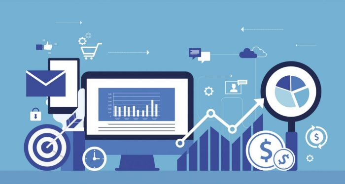 business digital marketing online concept and internet marketing