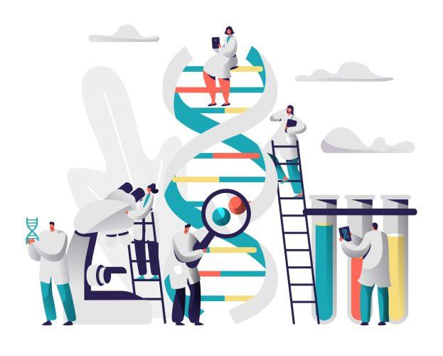 illustration de la thérapie-génique adn crispr