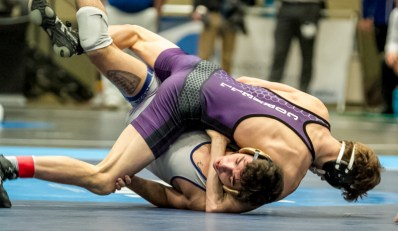 Champ. Round 1 - Ryan O`Boyle (McDaniel) 25-2 won by fall over Phillip Opelt (Cornell College) 17-7 (Fall 2:37)