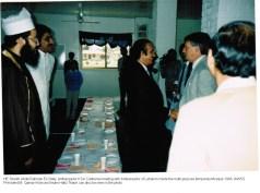 Ambassadors KSA & Lebanon visit at temporary Mosque