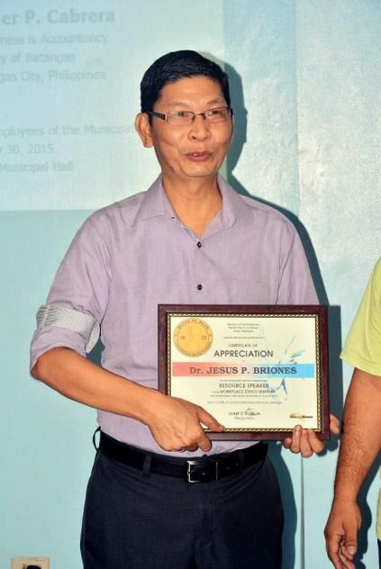 university of batangas college of business and accountancy workplace ethics mayor danny toreja jess briones ibaan batangas 22