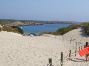 Son Parc beach in Menorca island