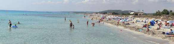 Son Bou in Menorca. Balearic Islands