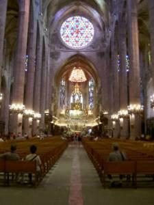 Interior de la Seu de Mallorca a Palma