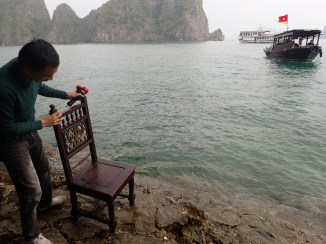 "Chair ""ladder"" Halong Bay, Vietnam"