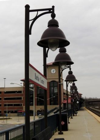 VRE station, Burke, VA, looking West