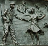 Detail of bas-relief of homecoming