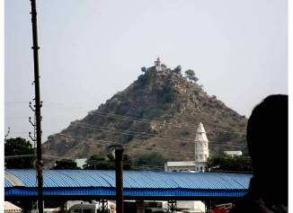 View of Savitri Temple from the Pushkar Fairgrounds