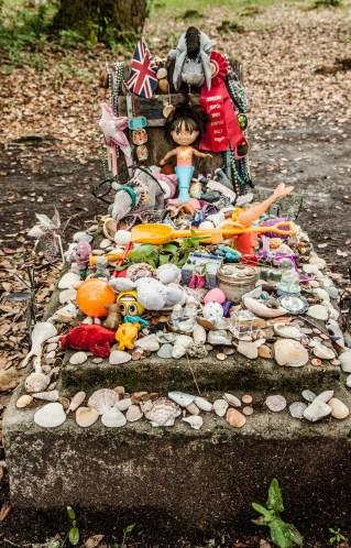 Grave of Girl in Barrel of Rum