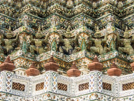 Demons Decorating Wat Arun Prang