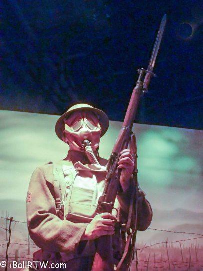 Gas-masked Marine (WW I)
