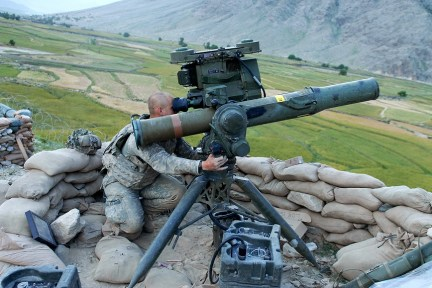Army Pfc. David Mitchell, a Soldier with 1st Battalion, 32nd Infantry Battalion, scans the landscape surrounding Vehicle Patrol Base Badel, located at the mouth of the Narang Valley in Konar Province. The base has closed down a large amount of enemy activity in the valley and in the districts of Narang, Chowkay and Nurgal. (U.S. Army photo by Sgt. Amber Robinson)