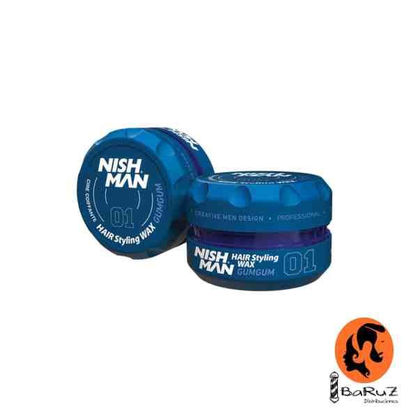 NISHMAN Hair Wax 01 Gum Gum
