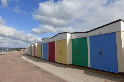 Beach huts in Exmouth.