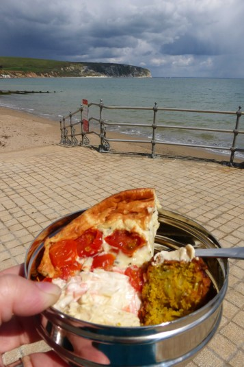A picnic by the seaside