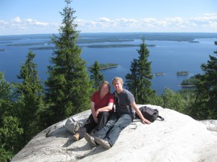 On top of Ukko Koli with hubby