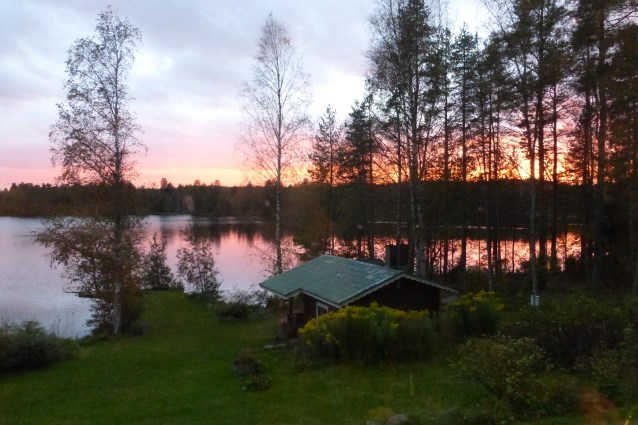 A wood-heated sauna by the lake