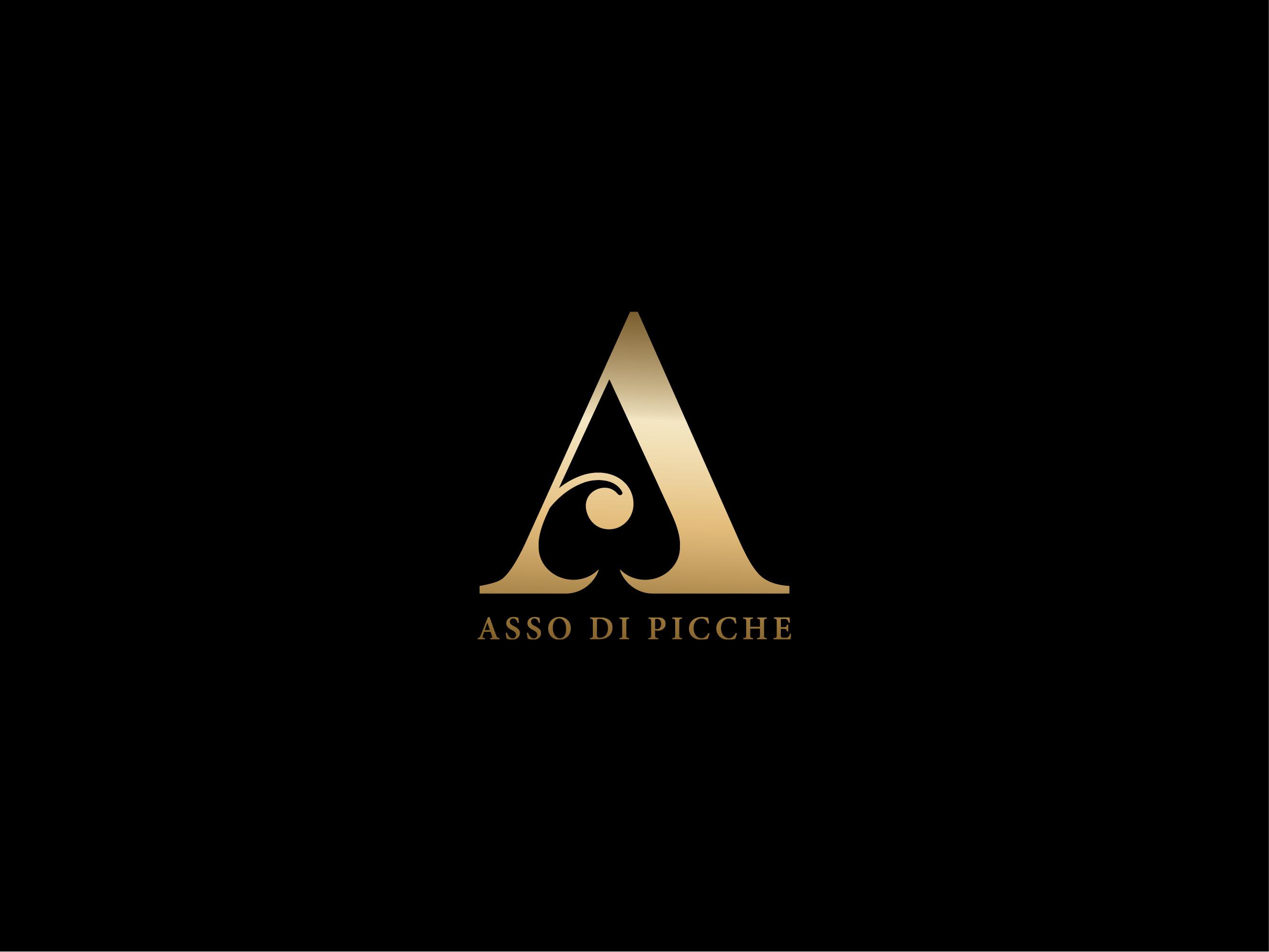 Asso Di Picche Italian luxury brand logo design
