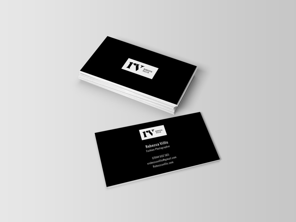 RV fashion photographer business card design