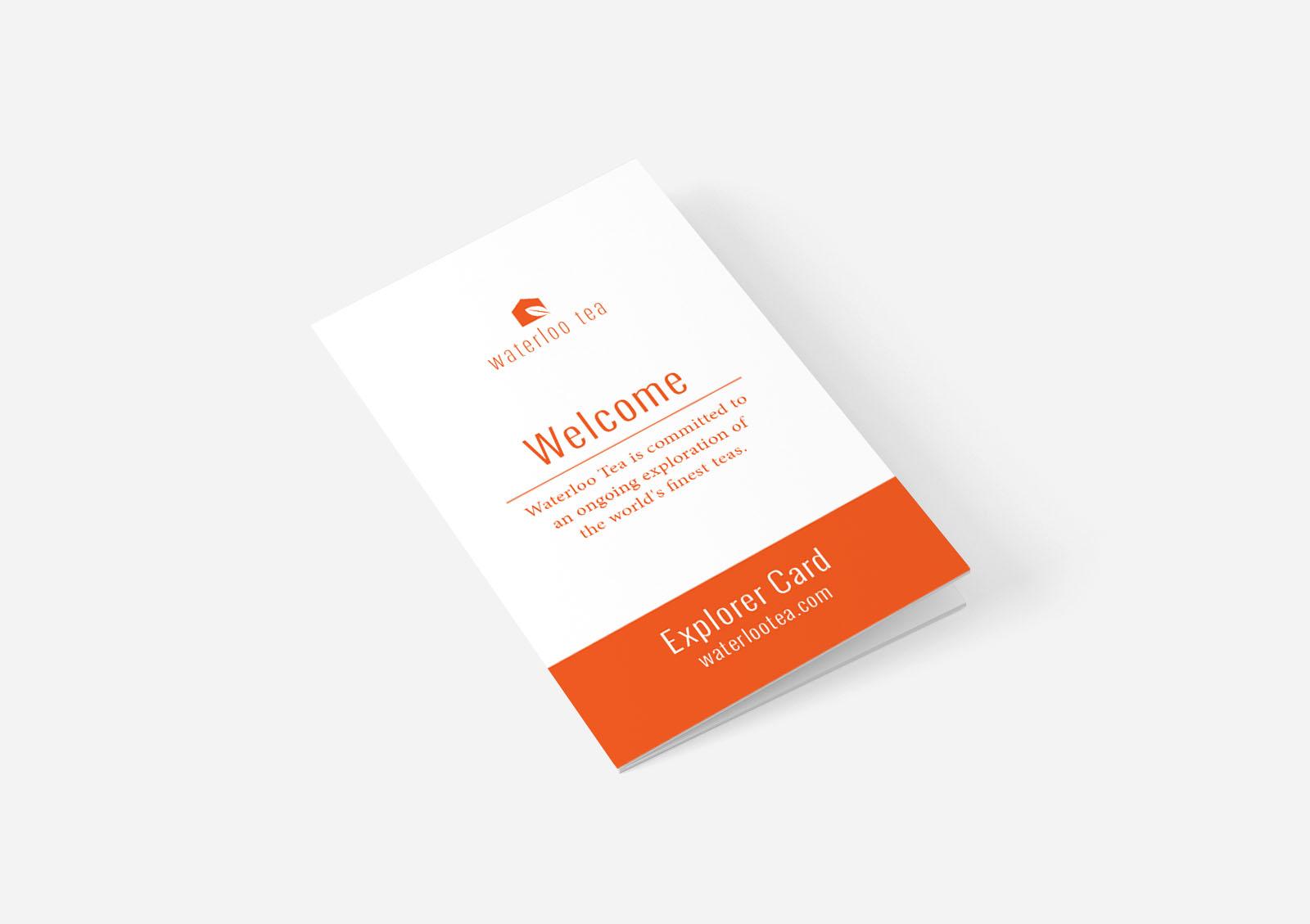 Waterloo tea Cardiff loyalty card design