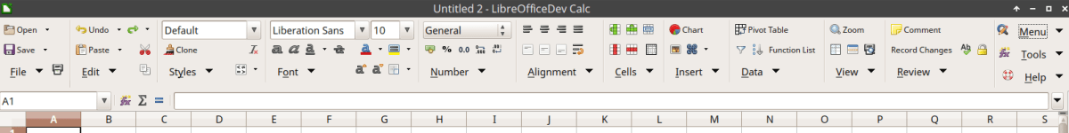 Groupedbar Notebookbar Variant in LibreOffice 6 Calc