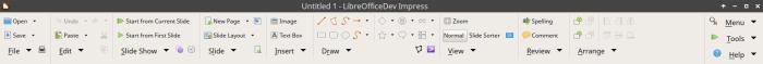 Groupedbar Notebookbar Variant in LibreOffice 6 Impress
