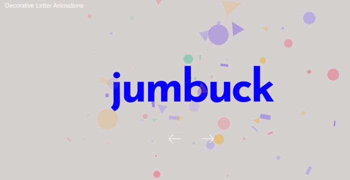 Letter Animations using Javascript Library Animation 10