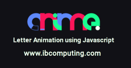 Letter Animations using Javascript Library