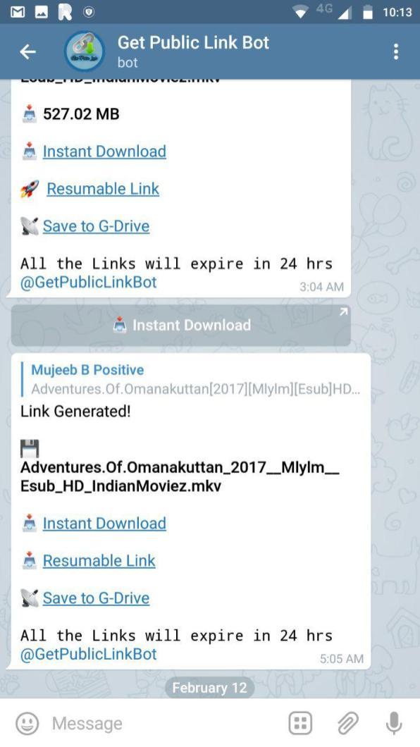 Get Public Link Bot