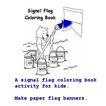 Signal Flag Coloring book- Free Download at IB Designs, USA (1/2)