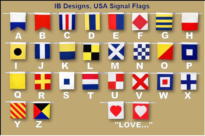 Happy Birthday Signal Flag Banner and Navy photo (2/3)