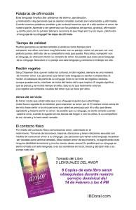 LOS CINCO LENGUAJES DEL AMOR - DIA 3
