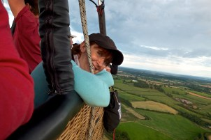 August - balloon ride over Worcestershire