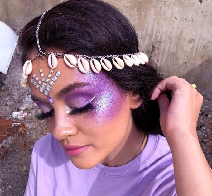 Little purple mermaid