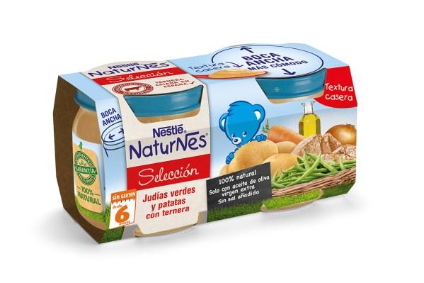 3D NaturNes Tarrito Comida - Judias verdes y patatas con ternera 2x200g ...