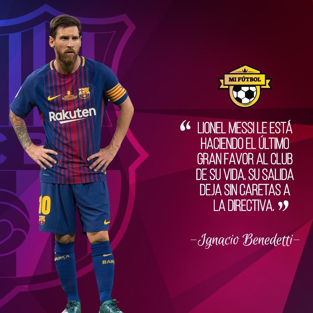 Messi se va para hacer un favor al club