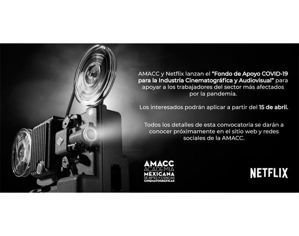 Academia de cine mexicana y Netflix lanzan fondo de apoyo a industria