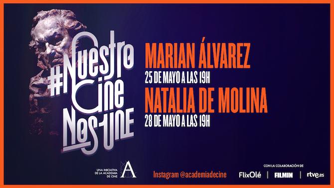 Actrices Marian Álvarez y Natalia de Molina, hoy en #NuestroCineNosUne