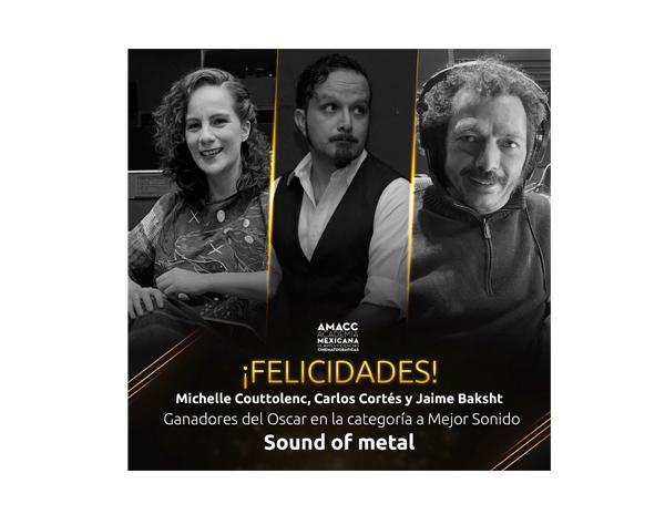 Mexicanos ganan Oscar a mejor sonido