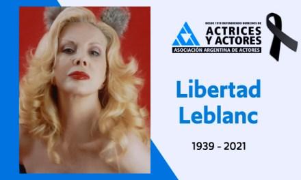 Muere actriz argentina Libertad Leblanc