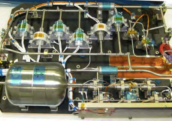 A detail of the Propellant Supply Assembly for Electric Propulsion