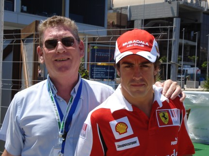 @TonyJaveaF1 with Alonso